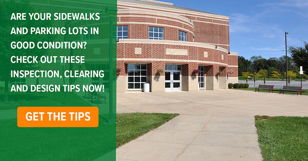 Parking lot and side walk tips